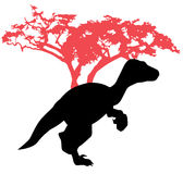 динозавр на деревянной предпосылке стоковые изображения