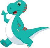 динозавр шаржа милый Стоковая Фотография
