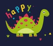динозавр шаржа милый Стоковое Фото
