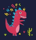 динозавр шаржа милый Стоковые Фотографии RF