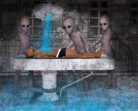 Инопланетяне, чужеземец, приводятся в действие дальше человеческого человека Стоковая Фотография RF