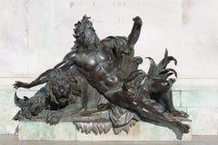 иносказательная статуя реки rhone Стоковые Фото
