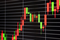 иностранный рынок обменом диаграммы Стоковые Изображения