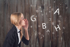 Иностранный язык. Концепция - учащ, говорящ, стоковая фотография rf