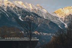 Инсбрук в зиме Стоковая Фотография