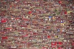 Институт тибетского буддизма в Китае Стоковое фото RF
