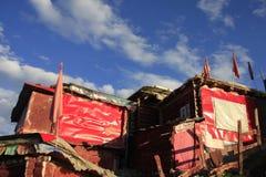 Институт тибетского буддизма в Китае стоковые фотографии rf