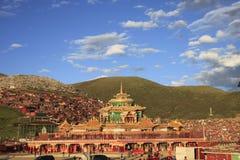 Институт тибетского буддизма в Китае стоковая фотография