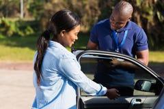 Инструктор водителя учащийся стоковые изображения