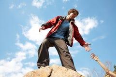 инструктор врученный рукой помогая кто-то Стоковые Изображения RF