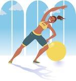 Инструктор фитнеса Стоковое фото RF