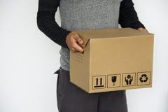 Инструкция коробки эта сторона вверх по предосторежению информации стоковая фотография rf