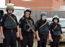 Инструкция полицейских на тренировках стоковая фотография