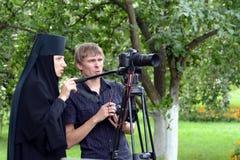 Инструкция для снимать во время шествия в монастыре Vvedensky Tolga стоковое изображение rf