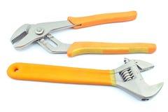 2 инструмента регулируемых ключа Стоковое фото RF