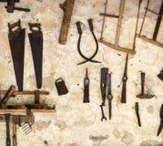 инструменты близкой руки старые ржавые поцарапанные вверх Стоковое Изображение RF