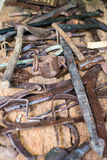 инструменты близкой руки старые ржавые поцарапанные вверх Стоковое Изображение