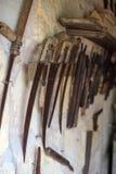 инструменты близкой руки старые ржавые поцарапанные вверх Стоковое Фото