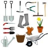инструменты весеннего времени сада садовничая иллюстрация штока
