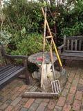 инструменты весеннего времени сада садовничая Стоковое Фото