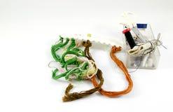 Инструменты вышивки Стоковая Фотография