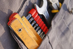 Инструменты в карманн Стоковые Фото