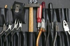 Инструменты в кожаной сумке стоковая фотография rf