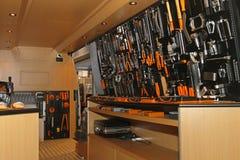 Инструменты в фургоне стоковая фотография rf