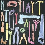 Инструменты в цвете Стоковое фото RF