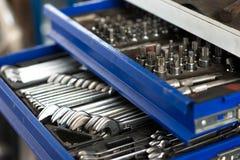 Инструменты в ящике Стоковая Фотография