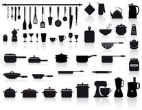 инструменты гончарни кухни cutlery иллюстрация вектора