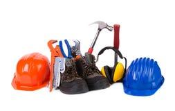 Инструменты деятельности в ботинках Стоковая Фотография RF