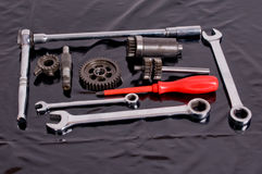 инструменты запасных частей Стоковая Фотография RF