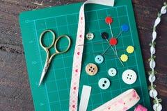 Инструменты заплатки шить Стоковые Изображения