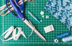 Инструменты заплатки шить Стоковые Изображения RF