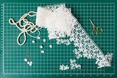 Инструменты заплатки шить Стоковое Фото