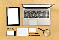 Инструменты дизайнера сети Стоковая Фотография RF