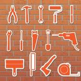 инструменты иконы Стоковое фото RF