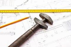 Инструменты инженера - ключ Стоковое Изображение