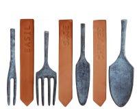 Инструменты и бирки для расти ваши собственные травы Стоковое Изображение RF