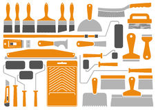 Инструменты и оборудование картины дома Стоковое Изображение