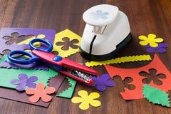 Инструменты и элементы дизайна от бумаги Стоковые Изображения