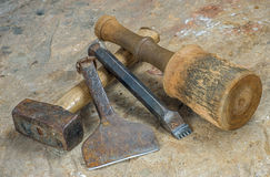 Инструменты каменщика Стоковая Фотография