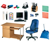 инструменты канцелярских принадлежностей офиса установленные Стоковое фото RF