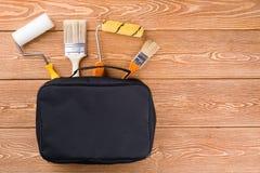 Инструменты картины в сумке Стоковое фото RF