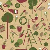 инструменты картины сада безшовные Стоковое Изображение