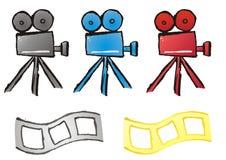 инструменты кино иллюстрация вектора