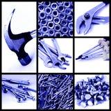 инструменты конструкции коллажа стоковые изображения