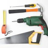 инструменты конструкции плотничества Стоковое Изображение