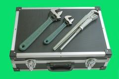 Инструменты коробки и locksmith Стоковая Фотография RF